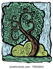 Wood cut tree