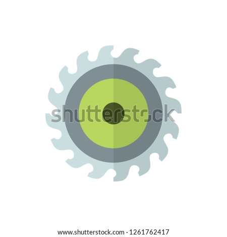 Wood Cutter Flat Vector Icon Royalty Free Stock Image