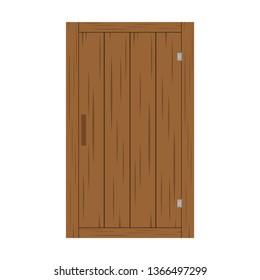 wood door vector. wallpaper. wood door on white background.