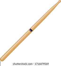 Wood drum stick vector isolated