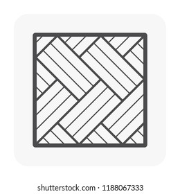 Wood floor pattern and material icon