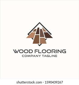wood flooring parquet hardwood texture vector logo design template premium
