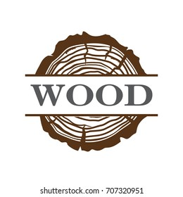 Wood grain Logo, Wood Logo, Construction Logo