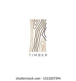 wood grain logo design concept
