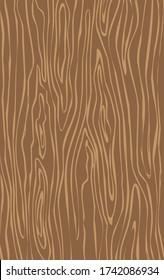 Wood grain texture. Dense lines. Abstract background. Cartoon vector illustration