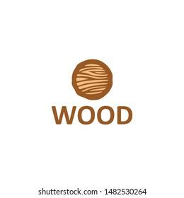wood icon logo design vector template