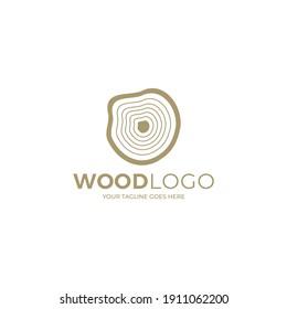 Wood Logo, Wood Texture, Grain,  minimalist logo