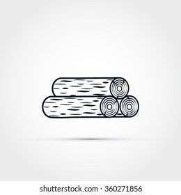 Wood logs illustration