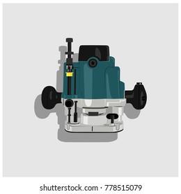 wood milling machine vector