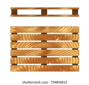 Wood pallet. Vector illustration, isolated on white