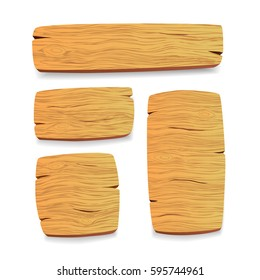 Wood panel set. Vector illustration