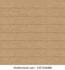 Wood planks texture. Vector natural wooden background. Horizontal stripes. Dark brown wall.