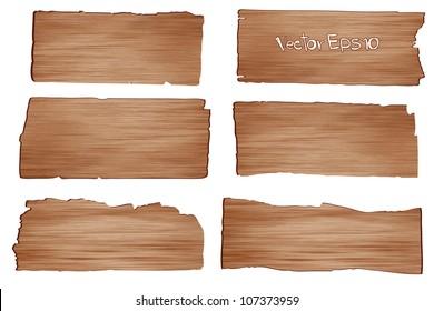 Wood planks, Vector illustration