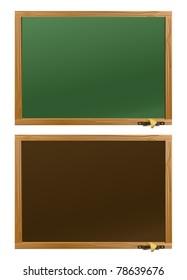 Wood school desks set