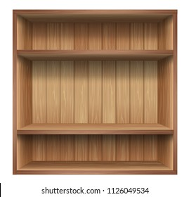 Wood shelf, Design component. vector.