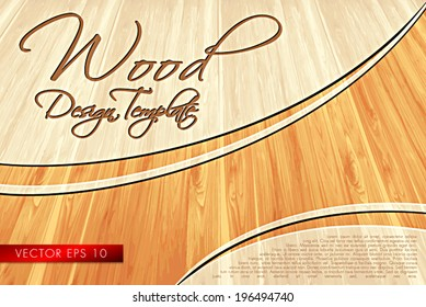 Wood Template Layout - Concept Vector Background Design