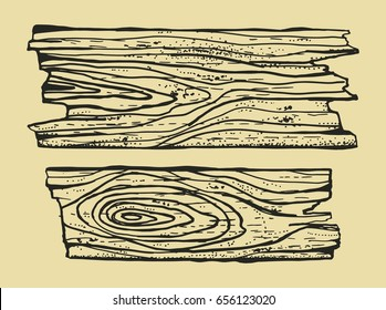 Wood texture drawing hand-made. Pieces of broken boards