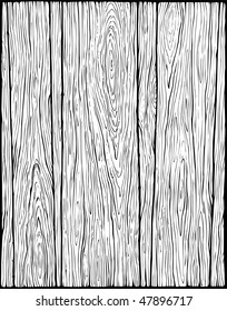 Wood Texture - Old Style - Black & White
