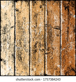 Wood texture with realistic natural structure. Blank board composed from clean planks. Empty background in square size format. Graphic element saved as a vector illustration in EPS file format