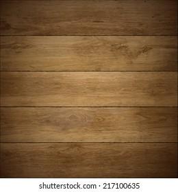 Wood texture. Vector wooden floor.