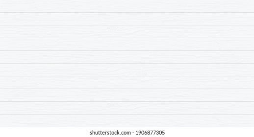 Wood texture. White wooden background. Gray table or floor. Pattern for plank and wooden wall. Old wood boards for vintage desk, surface and parquet. Grey timber panel for backdrop. Vector.