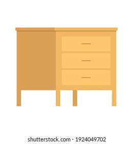 wood wardrobe cabinet illustration concept