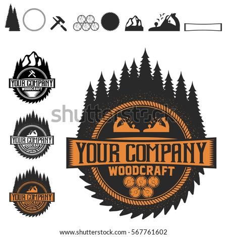 Woodcraft Retro Hipster Logo Stock Vector Royalty Free 567761602