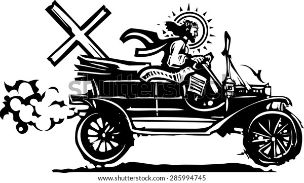 Image result for clip art Jesus riding in a car