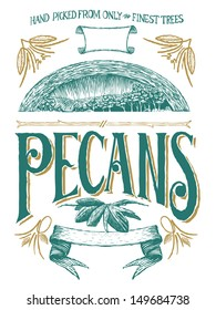 Woodcut-style label design with grunge-style design ornaments. All the flourishes and banners are separate and can be used as individual design elements.