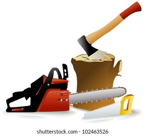 Woodcutter's tools