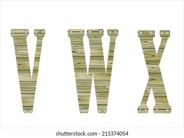 Wooden Alphabet, vector