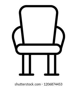 A wooden armless chair