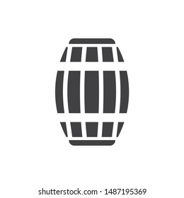 Wooden barrel icon. Wine barrel icon. Barrel flat vector sign. Wine barrel sign