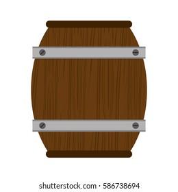wooden barrel wine icon