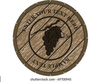 wooden barrel for wine vector design or card
