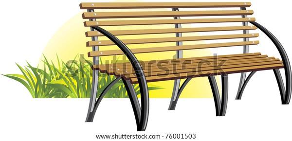 wooden-bench-among-grass-vector-600w-760