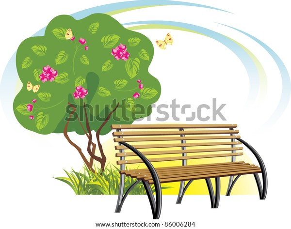 wooden-bench-flowering-tree-spring-600w-