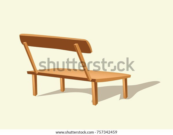 Stupendous Wooden Bench Vector Art Stock Vector Royalty Free 757342459 Pabps2019 Chair Design Images Pabps2019Com