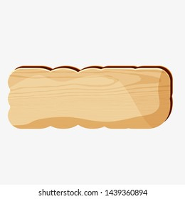 Wooden board in cartoon art with copy space