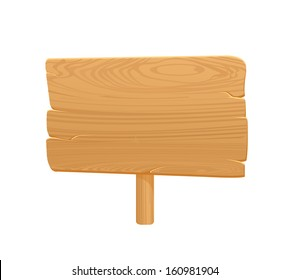 Wooden Board Icon On White Background