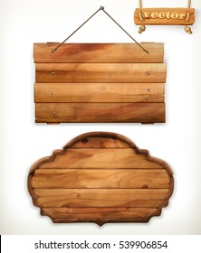 Wooden board, old wood, vector