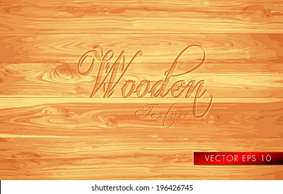 Wooden board texture background - vector