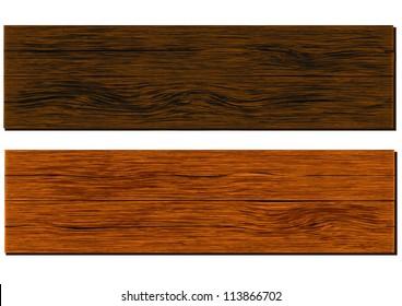 wooden board - vector