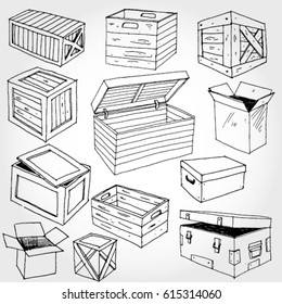 Wooden Boxes and Parcels