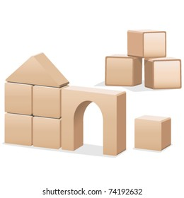 Wooden building blocks, baby toys, puzzles