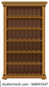 Wooden cabinet for wine bottles. Wine rack forty-eight bottles.
