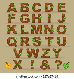 wooden cartoon typeface for your mobile game