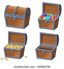 Wooden Chest set