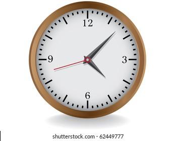 wooden clocks realistic illustration