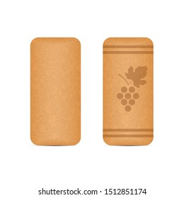 Wooden cork for wine vector design illustration isolated on white background
